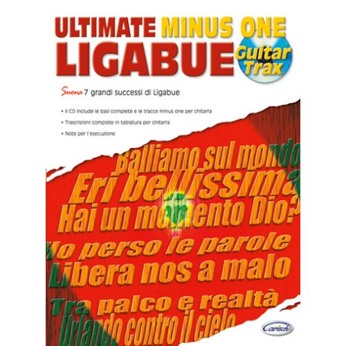 CARISCH LIGABUE LUCIANO - ULTIMATE MINUS ONE GUITAR TRAX + CD