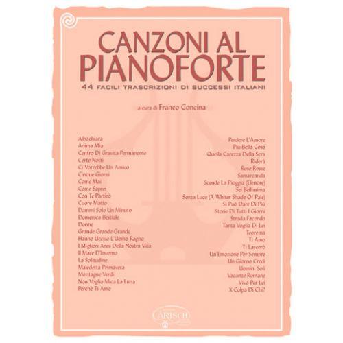 CARISCH CONCINA FRANCO - CANZONI AL PIANOFORTE VOL. 1 - PIANO