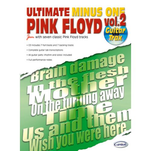 CARISCH PINK FLOYD - ULTIMATE MINUS ONE GUITAR TRAX VOL.2 + CD