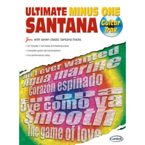 CARISCH SANTANA CARLOS - ULTIMATE MINUS ONE GUITAR TRAX VOL.1 + CD