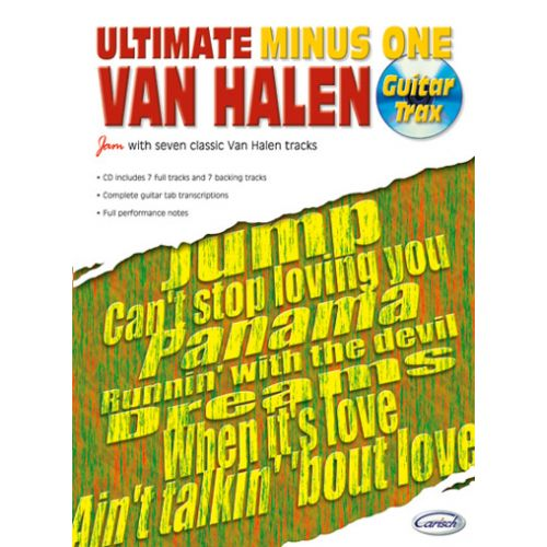 CARISCH VAN HALEN - ULTIMATE MINUS ONE GUITAR TRAX VOL.1 + CD