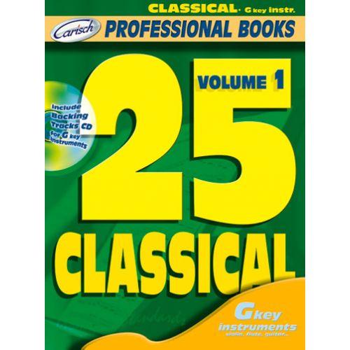 CARISCH 25 CLASSICAL + CD - INSTRUMENTS EN DO