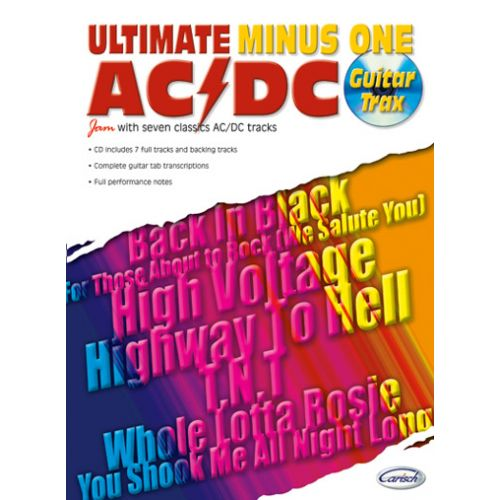 CARISCH AC/DC - ULTIMATE MINUS ONE GUITAR TRAX + CD