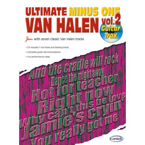 CARISCH VAN HALEN - ULTIMATE MINUS ONE GUITAR TRAX VOL.2 + CD
