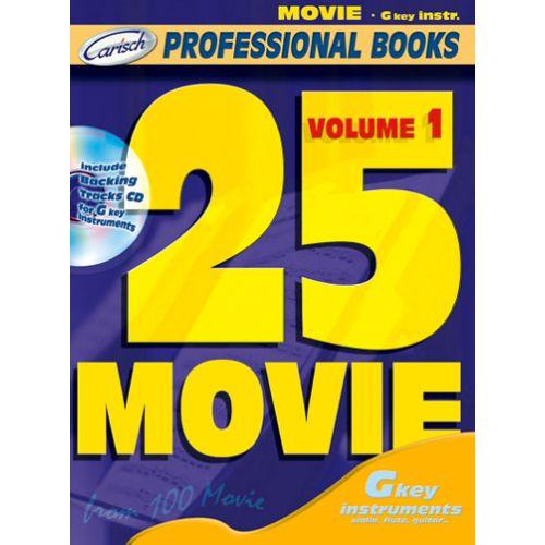 CARISCH 25 MOVIE + CD - INSTRUMENTS EN DO