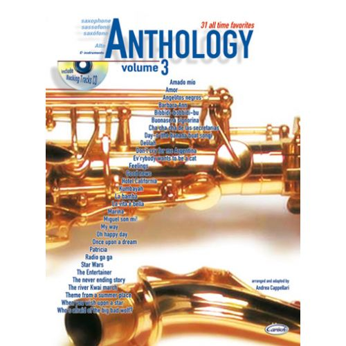 CARISCH CAPPELLARI A. - ANTHOLOGY VOL.3 + CD - SAXOPHONE ALTO