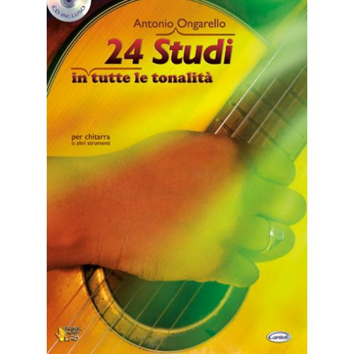 CARISCH ONGARELLO ANTONIO - 24 STUDI + CD - GUITARE