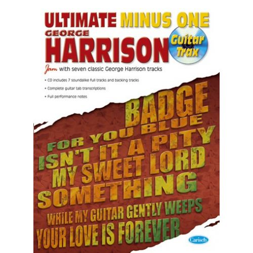 CARISCH HARRISON GEORGE - ULTIMATE MINUS 1 + CD - GUITARE TAB