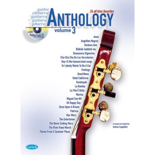 CARISCH CAPPELLARI A. - ANTHOLOGY VOL. 3 + CD - GUITARE
