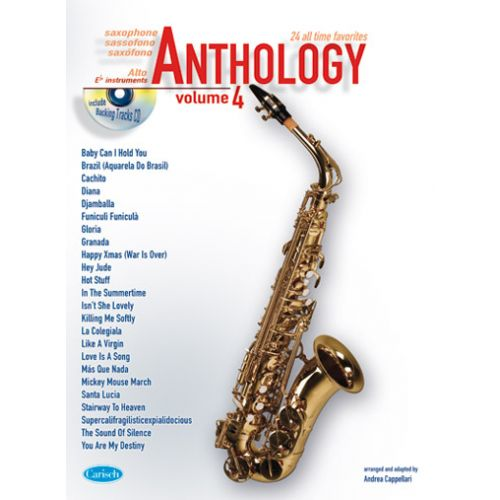 CARISCH CAPPELLARI ANDREA - ANTHOLOGY VOL.4 + CD - ALTO SAX