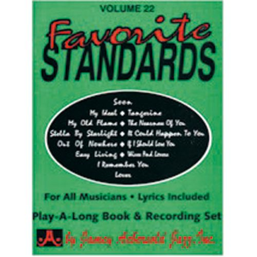 AEBERSOLD AEBERSOLD N°022 - FAVORITE STANDARDS + 2 CD