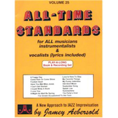 AEBERSOLD AEBERSOLD N°025 - ALL-TIME STANDARDS + 2 CD