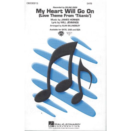 HAL LEONARD DION CELINE - MY HEART WILL GO ON - PIANO, CHANT