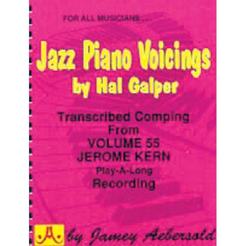 AEBERSOLD GALPER HAL - JAZZ PIANO VOICINGS FROM VOL.55 - PIANO