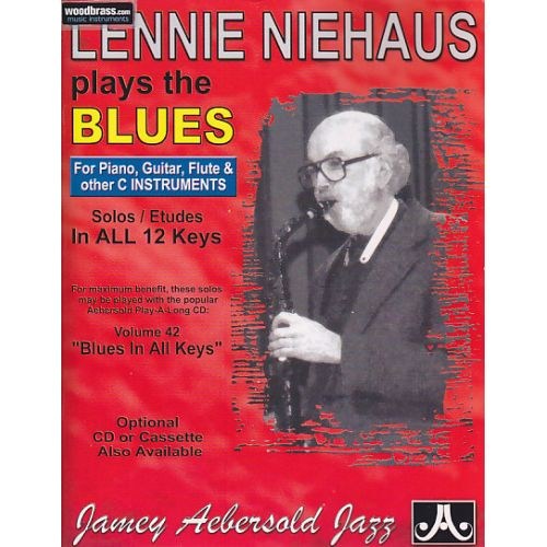 AEBERSOLD AEBERSOLD N°042 - LENNIE NIEHAUS PLAYS THE BLUES (C INSTRUMENTS + CD)