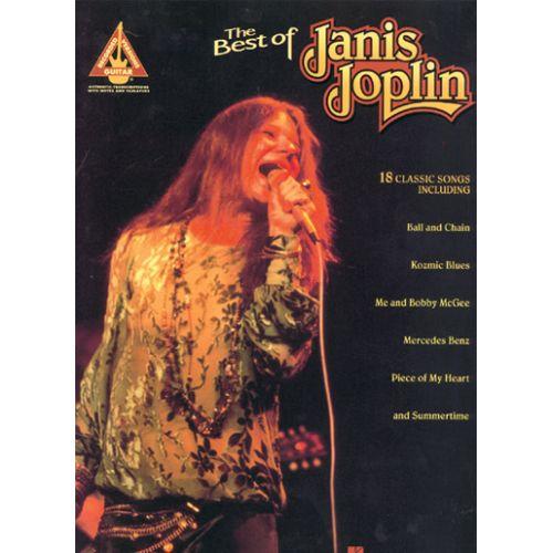 HAL LEONARD JOPLIN JANIS - BEST OF - GUITARE TAB