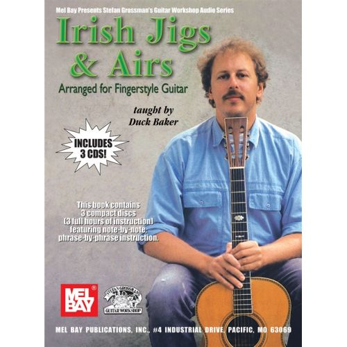MUSIC SALES BAKER DUCK - IRISH JIGS AND AIRS - GUITAR