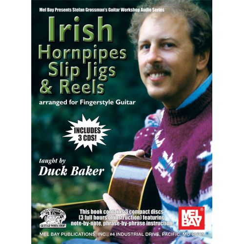 MUSIC SALES BAKER DUCK - IRISH HORNPIPES, SLIP JIGS AND REELS - GUITAR
