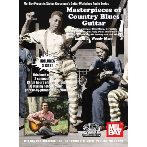 MUSIC SALES MANN WOODY - MASTERPIECES OF COUNTRY BLUES GUITAR - GUITAR