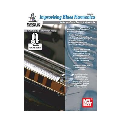 MEL BAY BARRETT / GARCIA - IMPROVISING BLUES HARMONICA + AUDIO ONLINE