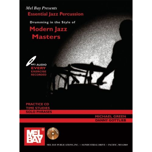 MEL BAY GREEN MICHAEL - ESSENTIAL JAZZ PERCUSSION - DRUMS