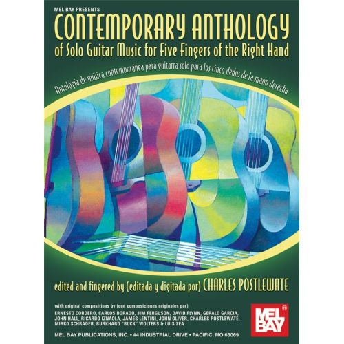 MEL BAY POSTLEWATE CHARLES - CONTEMPORARY ANTHOLOGY OF SOLO GUITAR MUSIC - GUITAR