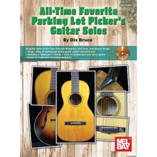 MEL BAY BRUCE ALL-TIME FAVORITE PARKING LOT PICKER'S GUITAR SOLOS + CD - GUITAR