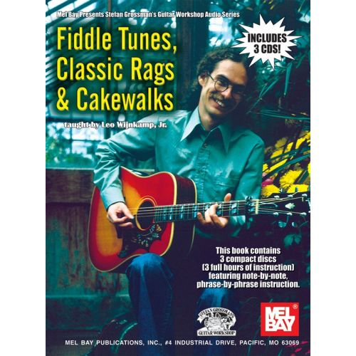 MUSIC SALES WIJNKAMP JR. LEO - FIDDLE TUNES, CLASSIC RAGS AND CAKEWALKS - GUITAR