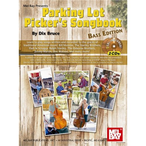 MEL BAY BRUCE DIX - PARKING LOT PICKER'S SONGBOOK - BASS EDITION - BASS GUITAR