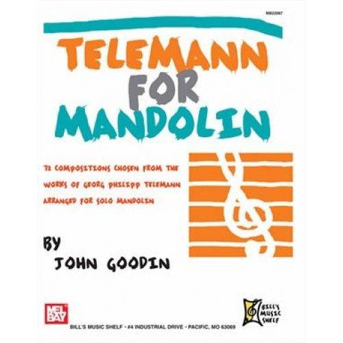 MEL BAY TELEMANN GEORGE PHILIPP - TELEMANN FOR MANDOLIN - MANDOLIN