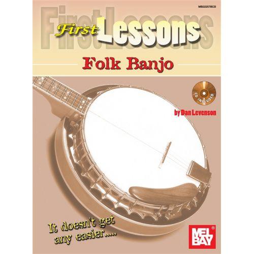 MEL BAY LEVENSON DAN - FIRST LESSONS FOLK BANJO - BANJO