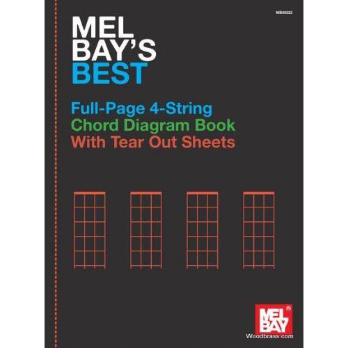 MEL BAY Mel Bay's Best Full-Page 4-String Chord Diagram Book