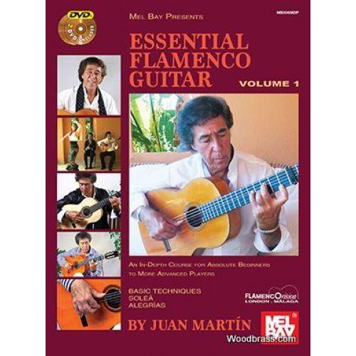 MEL BAY JUAN MARTIN AND PATRICK CAMPBELL - ESSENTIAL FLAMENCO GUITAR VOL.1 (BOOK/2-DVD Set)