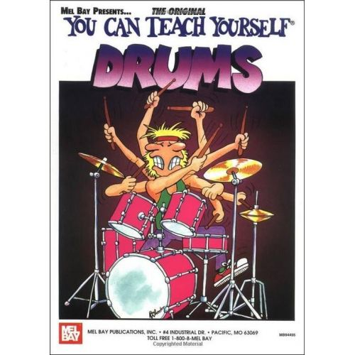 MEL BAY MORTON JAMES - YOU CAN TEACH YOURSELF DRUMS + CD + DVD - DRUM SET