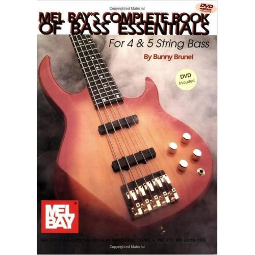 MEL BAY BRUNEL BERNARD - COMPLETE BOOK OF BASS ESSENTIALS + DVD - ELECTRIC BASS
