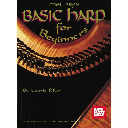 MEL BAY RILEY LAURIE - BASIC HARP FOR BEGINNERS - HARP