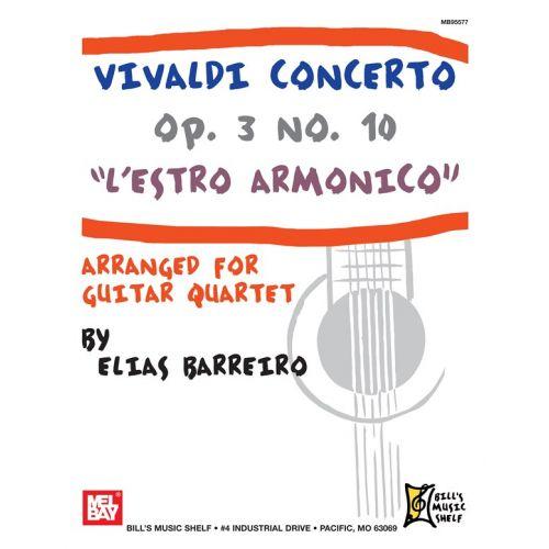 MEL BAY BARREIRO ELIAS - VIVALDI CONCERTO OP. 3 NO. 10 - L'ESTRO ARMONICO - GUITAR