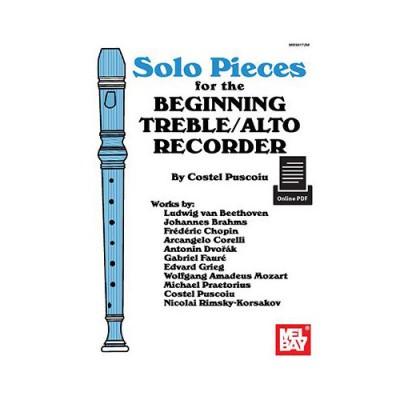 MEL BAY PUSCOIU COSTEL - SOLO PIECES FOR THE BEGINNING TREBLE/ALTO RECORDER - RECORDER