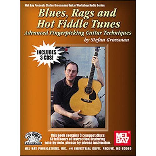 MUSIC SALES GROSSMAN STEFAN - BLUES, RAGS AND HOT FIDDLE TUNES - GUITAR