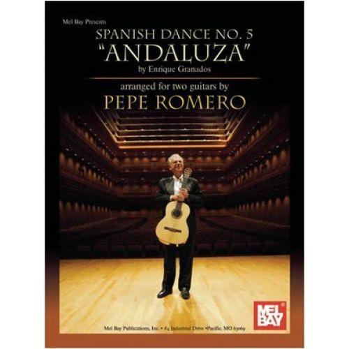 MEL BAY GRANADOS ENRIQUE - SPANISH DANCE NO. 5 ANDALUZA - GUITAR