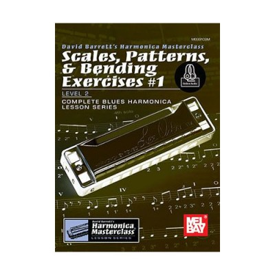 MEL BAY BARRETT DAVID - SCALES, PATTERNS AND BENDING EXERCISES VOL.1 + ONLINE AUDIO - HARMONICA