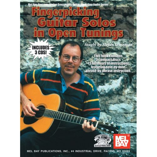 MUSIC SALES GROSSMAN STEFAN - FINGERPICKING GUITAR SOLOS IN OPEN TUNINGS - GUITAR