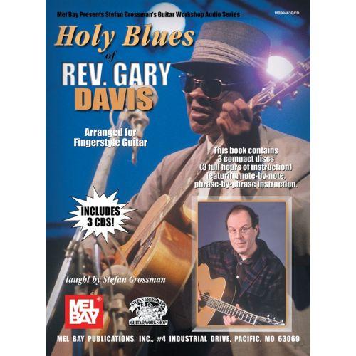 MUSIC SALES GROSSMAN STEFAN - HOLY BLUES OF REV. GARY DAVIS - GUITAR