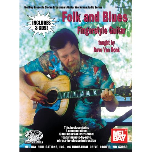 MUSIC SALES VAN RONK DAVE - FOLK AND BLUES FINGERSTYLE GUITAR - GUITAR