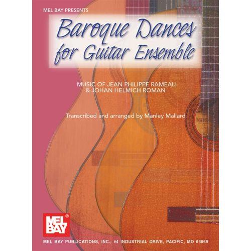 MEL BAY MALLARD MANLEY - BAROQUE DANCES FOR GUITAR ENSEMBLE - GUITAR