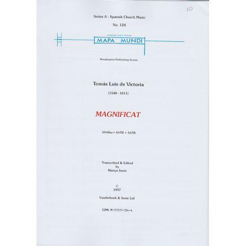 MAPA MUNDI VICTORIA TOMAS LUIS (DE)- MAGNIFICAT - SSABAR+SATB+SATB SSATTB