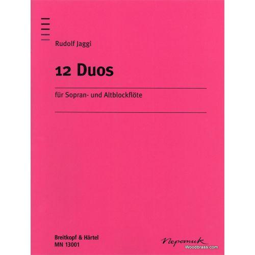 EDITION BREITKOPF JAGGI RUDOLPH - 12 DUOS