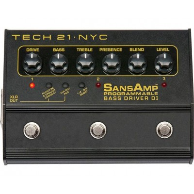TECH21 WITHOUT PROGRAMMABLE BASS DRIVER BASS PROGRAMMABLE DI PREAMP FOR BASS