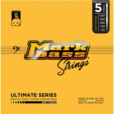 MARKBASS MB5ULNP40120LS 5 STRINGS SET ULTIMATE SERIES NICKEL PLATED STEEL 040 060 080 100 120