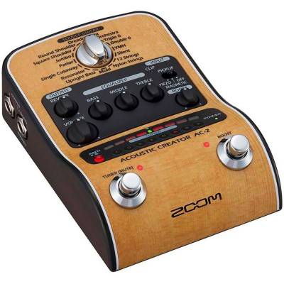 ZOOM AC-2 ACOUSTIC CREATOR PEDAL FOR ELECTROACOUSTIC GUITAR AND DOUBLE BASS